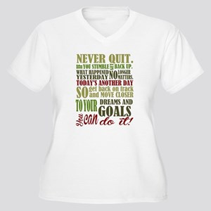Never Quit Plus Size T-Shirt