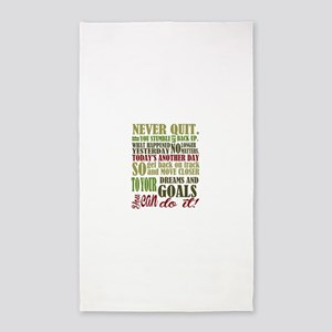 Never Quit Area Rug