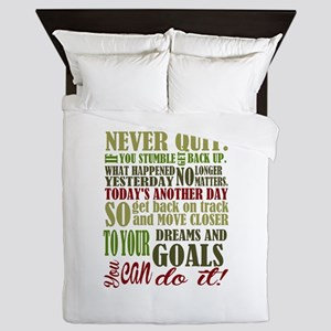 Never Quit Queen Duvet