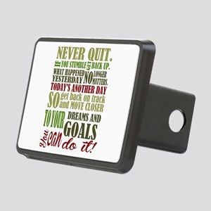 Never Quit Rectangular Hitch Cover