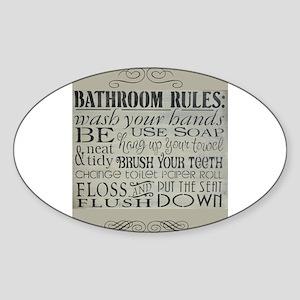 bathroom rule Sticker