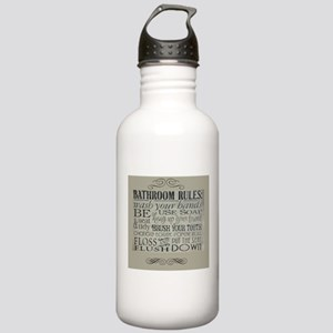 bathroom rules Stainless Water Bottle 1.0L