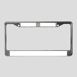 bathroom rules License Plate Frame