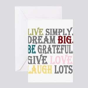 Live Simply Greeting Cards