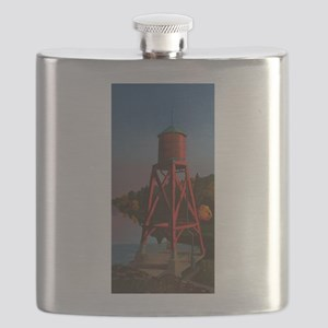 Water Tower Sunset Flask