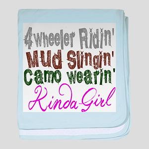 camo wearin, baby blanket
