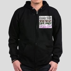 camo wearin, Zip Hoodie (dark)