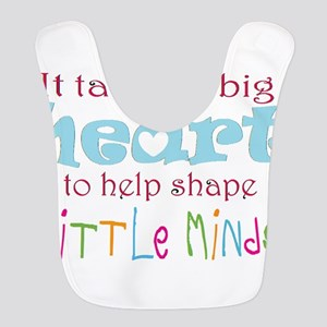 big heart: teacher, Bib