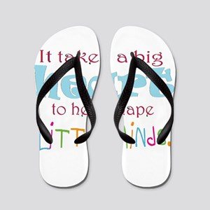 big heart: teacher, Flip Flops