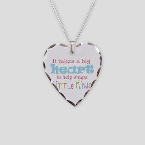 big heart: teacher, Necklace Heart Charm