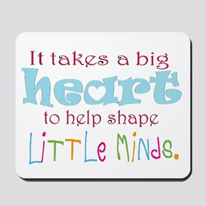 big heart: teacher, Mousepad