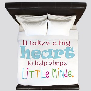 big heart: teacher, King Duvet