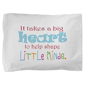 big heart: teacher, Pillow Sham
