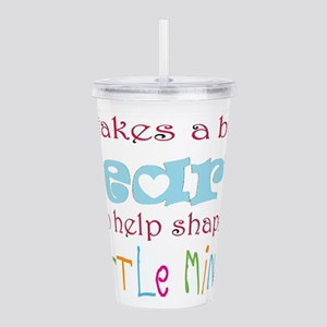 big heart: teacher, Acrylic Double-wall Tumbler
