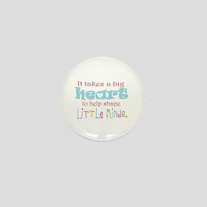 big heart: teacher, Mini Button