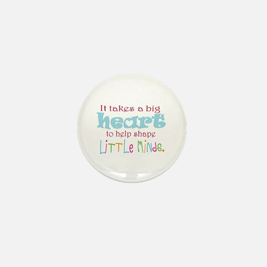 big heart: teacher, Mini Button