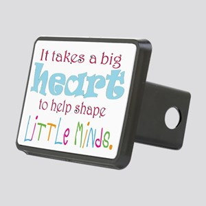 big heart: teacher, Rectangular Hitch Cover