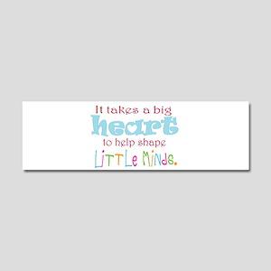 big heart: teacher, Car Magnet 10 x 3
