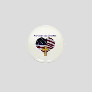 Christian AND American Mini Button