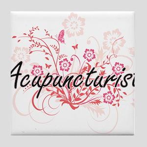 Acupuncturist Artistic Job Design wit Tile Coaster
