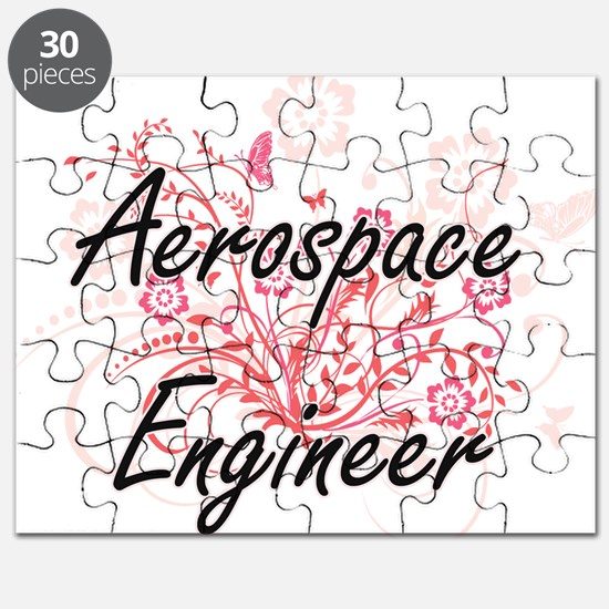 Aerospace Engineer Artistic Job Design with Puzzle