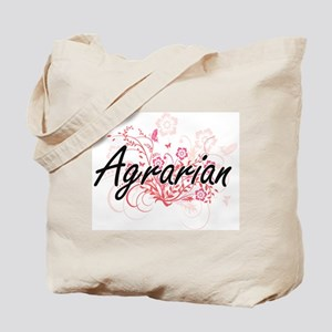 Agrarian Artistic Job Design with Flowers Tote Bag
