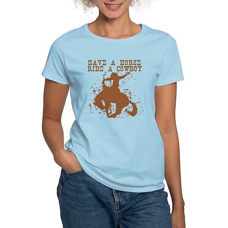 Save a horse, ride a cowboy. Women's Light T-Shir