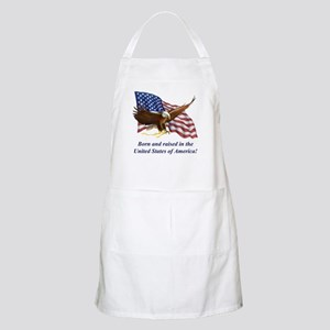 Born Raised In USA! Eagle BBQ Apron