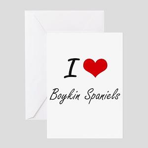 I love Boykin Spaniels Greeting Cards