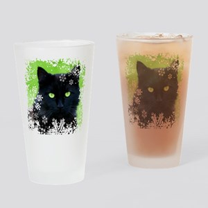 BLACK CAT & SNOWFLAKES Drinking Glass