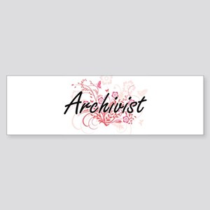 Archivist Artistic Job Design with Bumper Sticker