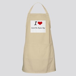 I love Central Asia Shepherd Dogs Apron