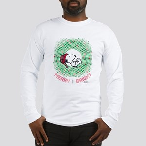 Peanuts Snoopy Merry and Brigh Long Sleeve T-Shirt