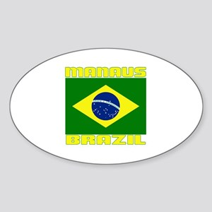 Manaus, Brazil Oval Sticker