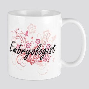 Embryologist Artistic Job Design with Flowers Mugs