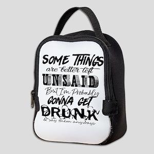 drunk humor Neoprene Lunch Bag