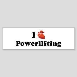 I (Heart) Powerlifting Bumper Sticker
