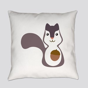 Squirrel With Nut Everyday Pillow