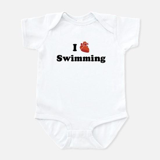 I (Heart) Swimming Infant Bodysuit