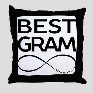 BEST GRAM EVER Throw Pillow