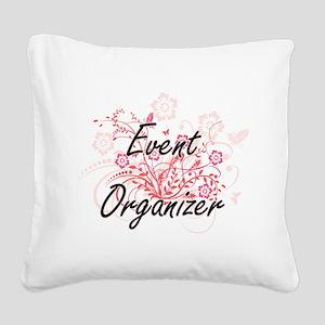 Event Organizer Artistic Job Square Canvas Pillow