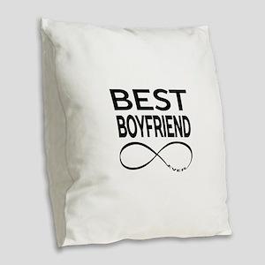 BEST BOYFRIEND EVER Burlap Throw Pillow