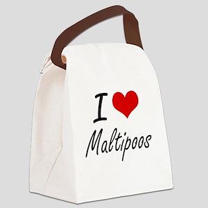 I love Maltipoos Canvas Lunch Bag