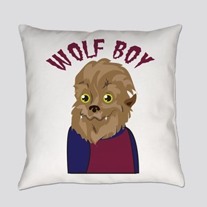 Wolf Boy Everyday Pillow