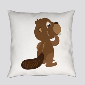 Beaver Animal Everyday Pillow