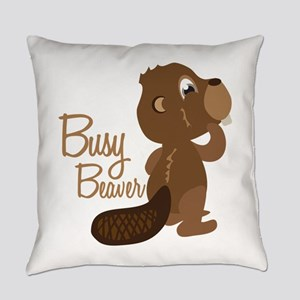 Busy Beaver Everyday Pillow