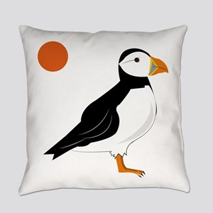 Puffin Bird Everyday Pillow