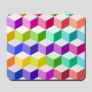 Cube Ptn Multicolored Mousepad