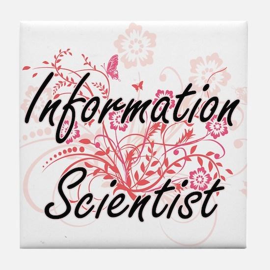 Information Scientist Artistic Job De Tile Coaster