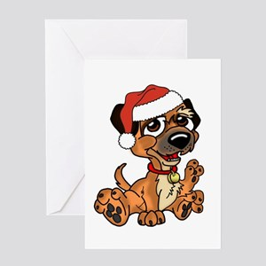 Border Terrier Dog Christmas, Card Greeting Cards